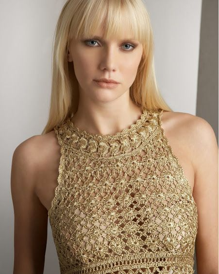 Outstanding Crochet: Crochet Dress from Diane von Furstenberg with some charts.