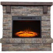 """Polyfiber Electric Fireplace with 41"""" Mantle"""