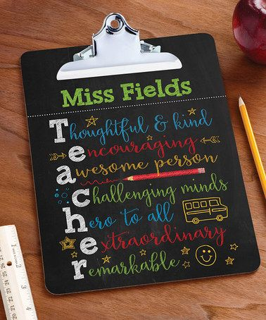 Loving this Colorful Teacher Personalized Clipboard on #zulily! #zulilyfinds