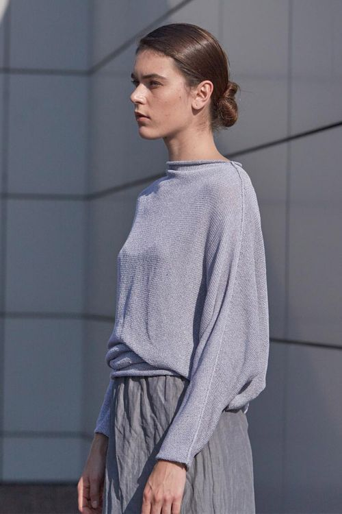 Купить Блуза меланж ЛЕТУЧАЯ МЫШЬ из коллекции «…И ВХОДИТ ЖЕНЩИНА» от Lesel (Лесель) российский дизайнер одежды