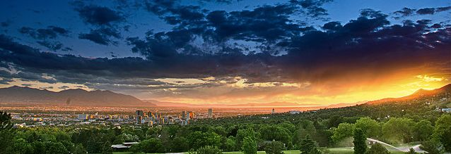 sunset over salt lake valley - Google Search