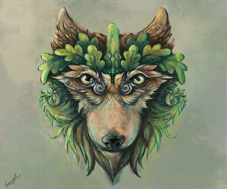 wolf oaks - digital art