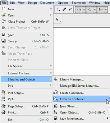 How to extract Library Parts from the ArchiCAD Library LCF