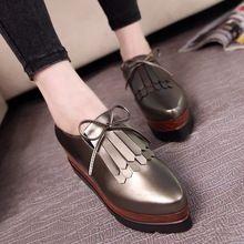 Nouveau designer femmes richelieu chaussures célèbre marque gland plate-forme chaussures femme arc creepers de luxe noir/argent mocassins dames chaussures(China (Mainland))