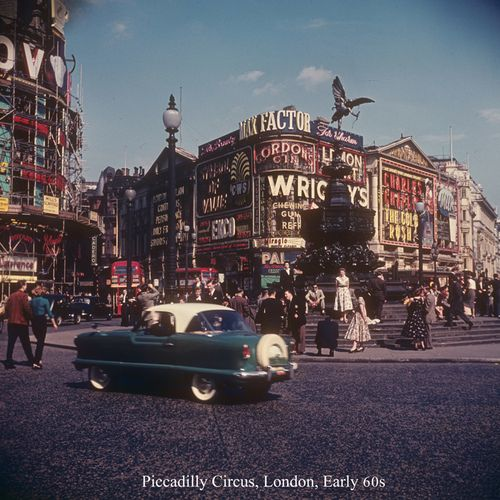 Vintage Picadilly Circus -1960's