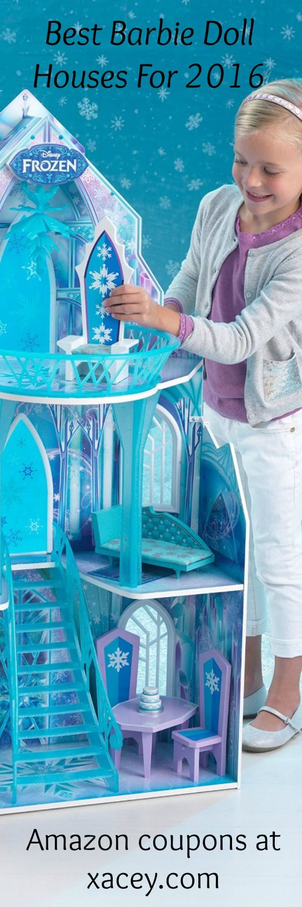 Frozen girls gift, frozen doll house, holiday gift. Sweet doll house that makes my little girls so happy and keeps her entertained for hours