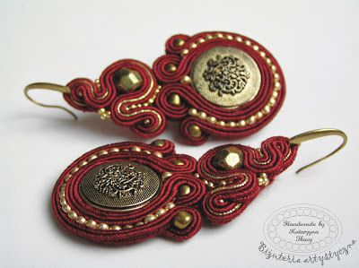 Soutache handmade embroidered jewellery