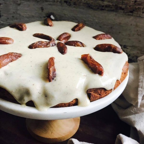 Cinnamon coconut and date cake