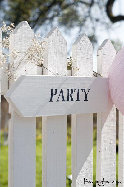Party sign - communie of feestje? Die kant op!!