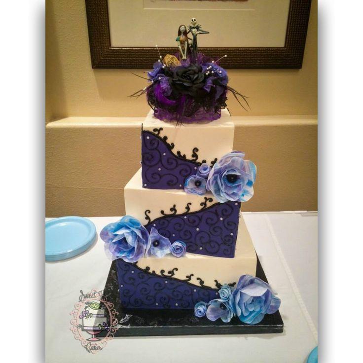 Ercream Wedding Cake With Fondant Panels And Piping