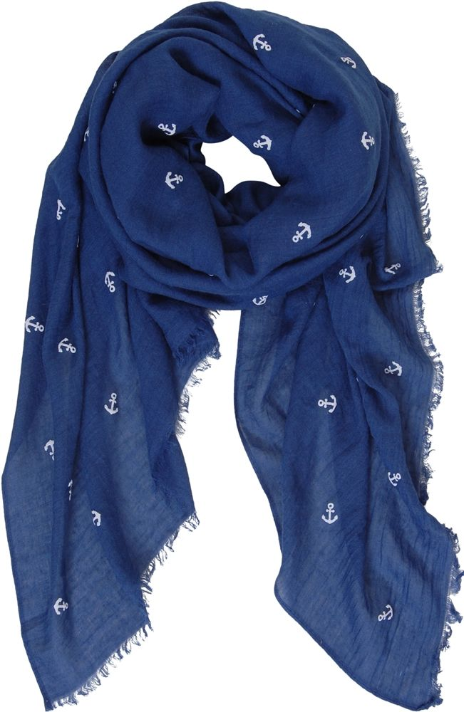Hobie Anchor Scarf - Lightweight Nautical Soft Shawl