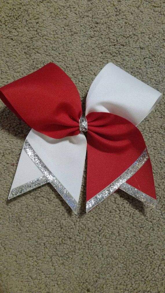 Custom Cheer Bow choice of colors tick by CurlyNoodleCreations