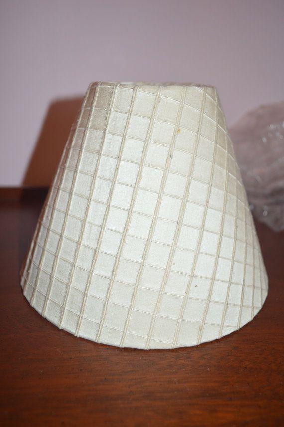 Rare Frederick Cooper Silk Double & Single Ribed Crisscross Pattern Lamp Shade