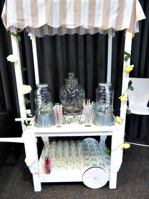 Love this punch cart.  Available for hire.  You can use it for punches, cocktails, gifts or lolly buffet.  www.tailracecentre.com.au