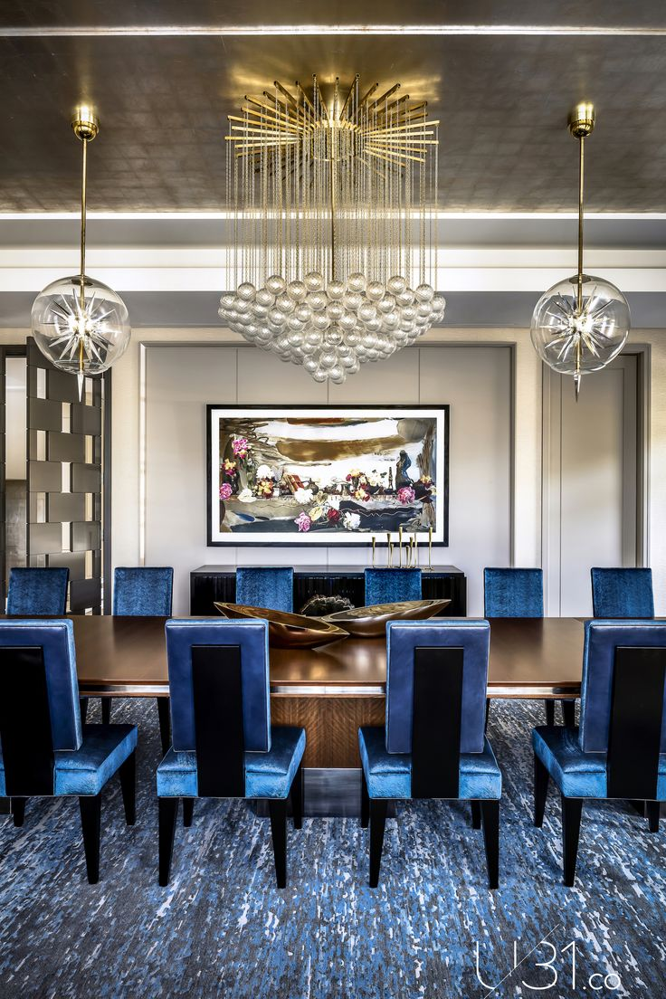 #u31 #luxury #art #design #interiors #interiordesign #architecture #designer #furniture #lighting #house #home #hotel #travel #inspiration #living #canada #toronto #contemporary #midcentury #modern #life #minimalism #classic #style #dining #diningroom #chandelier #blue