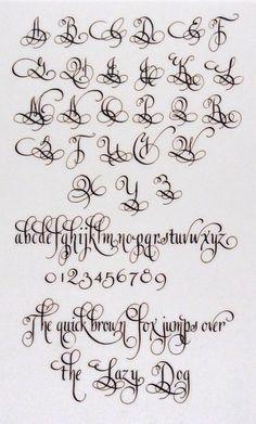 lindsey hook - #calligraphy, #alphabet #ornamentalcalligraphy, #copperplate…