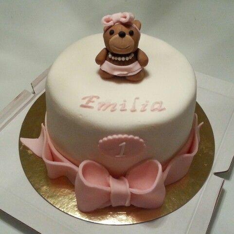 Teddybear cake for a little princess.