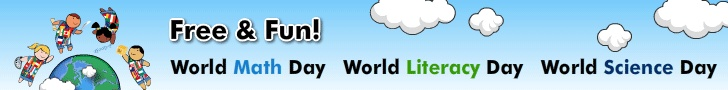 Word Education Games - World Math Day - World Literacy Day - World Science Day - Register here!