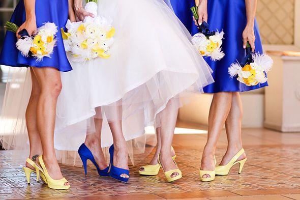 Noiva sapato azul