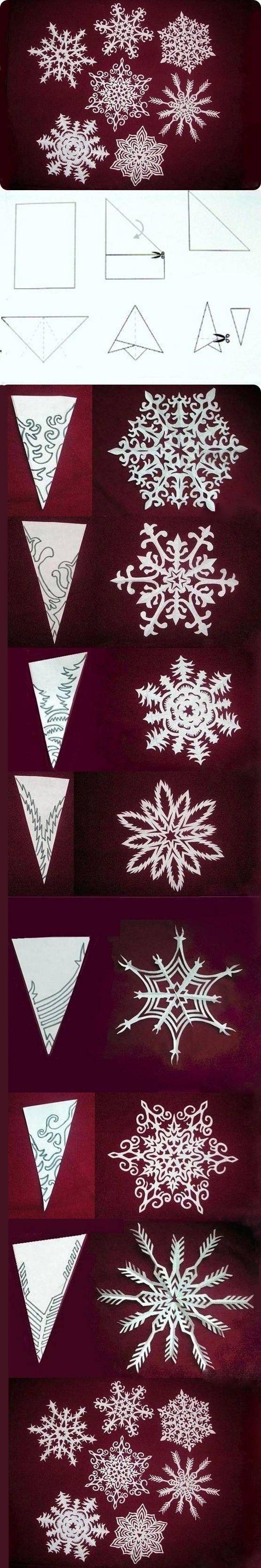 Paper snowflake patterns #Paper Snowflake #Paper Snowflake Patterns #Crafts