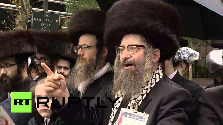 USA: Orthodox Jews protest Netanyahu's UN speech