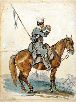żołnierz Jazdy Wołyńskiej 1831 - mal.P.Michałowski 1835