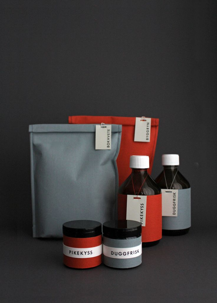 Grot - packaging for a fictional line of Scandinavian pantry food by Silje Forbes Design. Found on The Dieline.