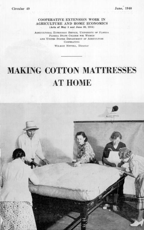 Tutorial for making a homemade cotton double mattress