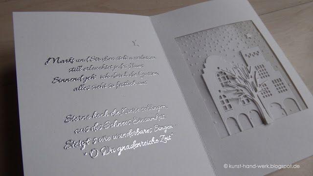 Heute hab' ich eine Inspiration für Euch in weiß / silber Schöne Adventszeit - wieder mit Licht - Im ersten...