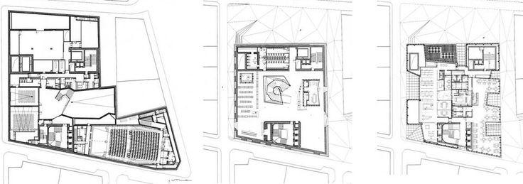 Caixaforum Madrid Herzog & de Meuron floor plans