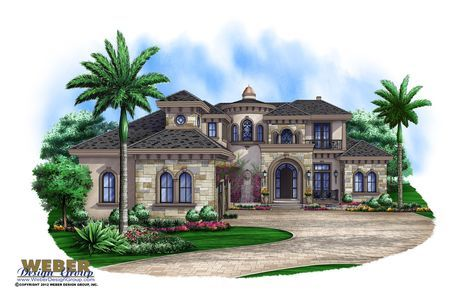 This Mediterranean dream home consists of 5 bedrooms, 5 full baths and 2 half baths. The family room floor plan allows for formal and informal spaces while the exquisite ceiling details maintain an upscale feeling throughout. Enjoy entertaining friends and family outside under your covered lanai complete with an outdoor kitchen, luxury pool and spa and nearby fire pit. Split bedrooms, 2 wet bars, formal wine bar, a handsome study, upstairs loft, massive walk-in closets and several covered…