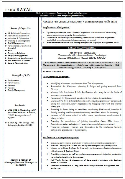 How to Write an Excellent Resume??  Sample Template Example of Beautiful Excellent Professional Curriculum Vitae / Resume / CV Format with Career Objective, Job Profile & Work Experience for Fresher Experienced in Word / Doc / Pdf Free Download (4 Page Resume) (Click Read more for Viewing and Downloading the Sample)  ~~~~ Download as many CV's for MBA, CA, CS, Engineer, Fresher, Experienced etc / Do Like us on Facebook for all Future Updates ~~~~