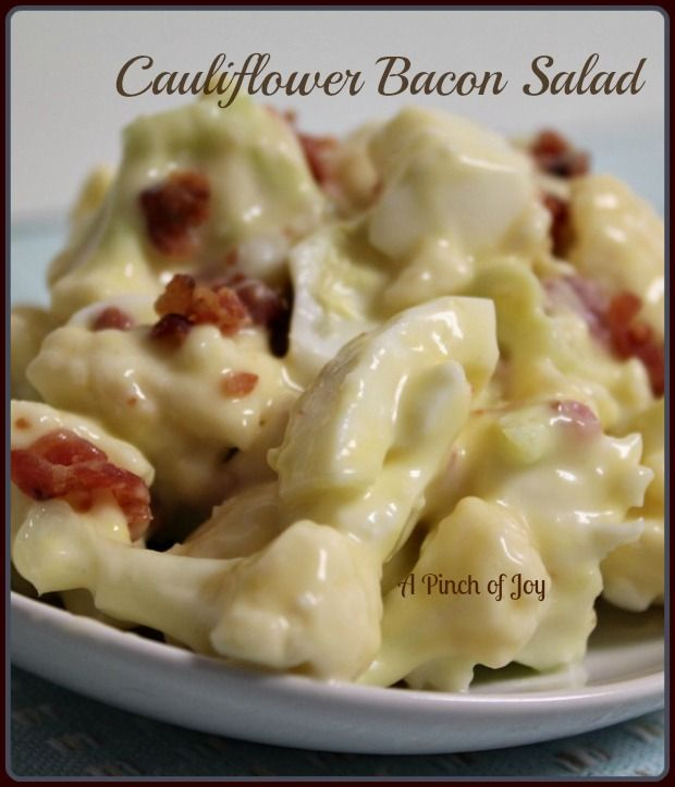 Cauliflower Bacon Salad Recipe ~ Mmmm... This is so good you will ignore everything else on your plate.