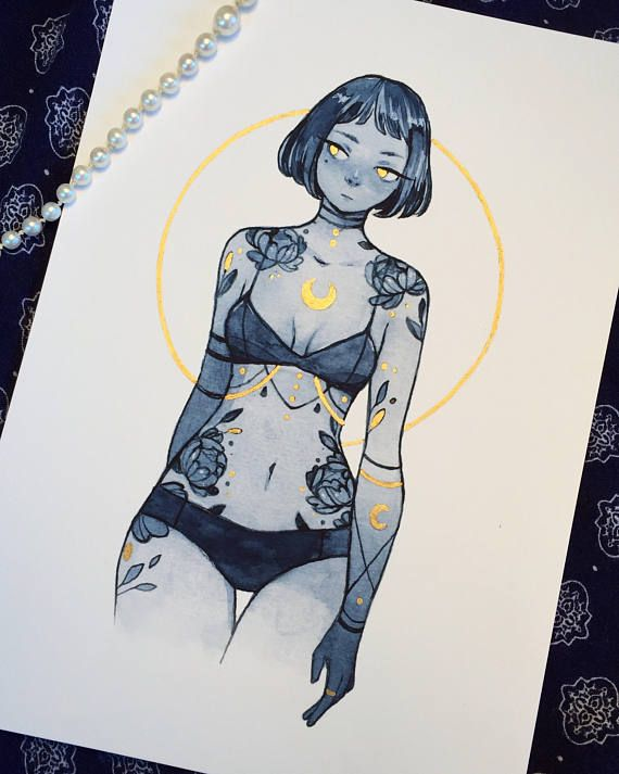 Peony tattoos gold embellished print