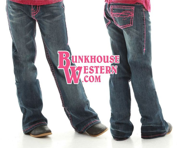 SALE @cowgirltuffco Little Girl's, Don't Fence Me In, Pink Jeans, Pink, Crystals, Barrel Racing, Youth Rodeo, Kids Western Wear, Cowgirl Tuff, ON SALE NOW @ http://bunkhousewestern.com/gpink