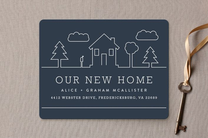 Suburban Landscape Moving Announcements by carly reed walker at minted.com