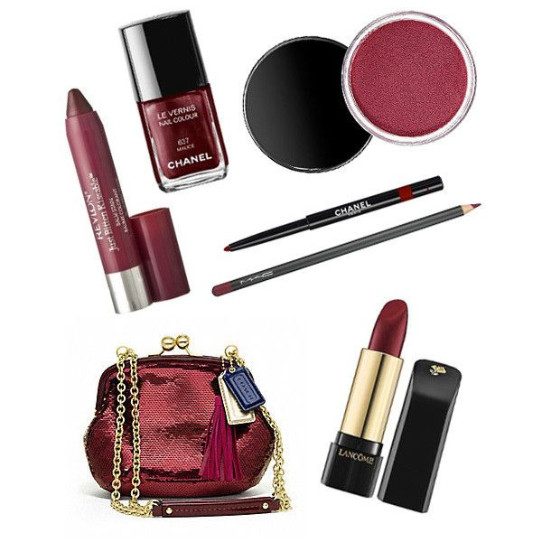 Get Sexy With Burgundy Makeup Inspired By Jessica Biel Scarlett... ❤ liked on Polyvore featuring beauty products, makeup, sexy makeup and burgundy makeup
