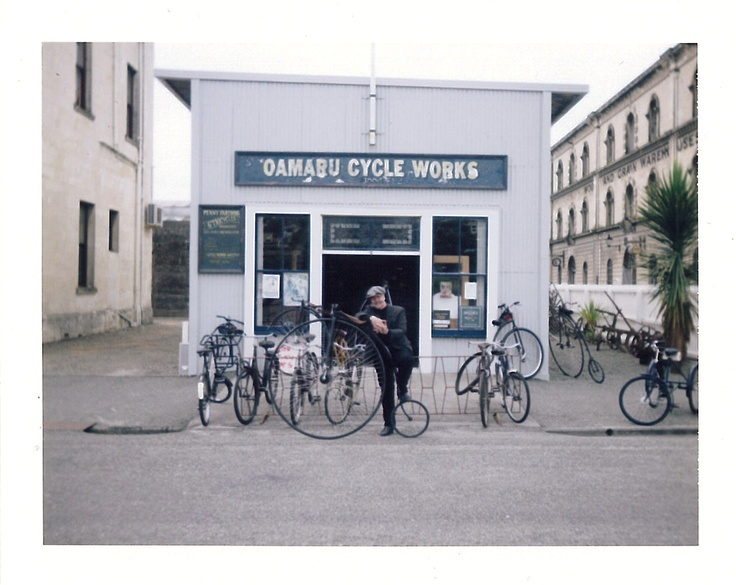 Owner of the Cycle Works: Oamaru, New Zealand