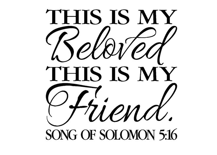 Scripture Wall Vinyl Bible Verse This Is My Beloved And Friend Song Of Solomon