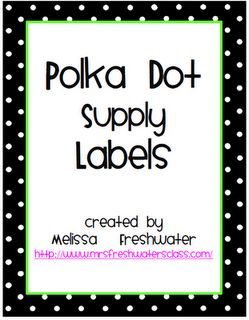 More great labels-- this one has a page of blank labels (Classroom Freebies Too: New Bin Labels)