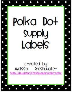 Classroom Freebies: Supply Bin Labels and Math Bin Labels