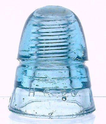 "CD 145 H G Co Petticoat ""J"" Mold Cornflower Blue Antique Glass Insulator | eBay"