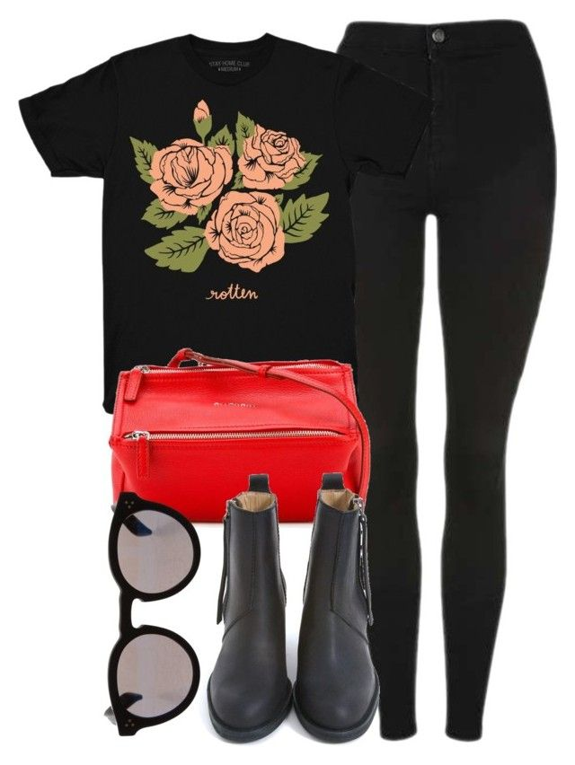 """""""Untitled #6807"""" by laurenmboot ❤ liked on Polyvore featuring Topshop, Stay Home Club, Givenchy, Acne Studios and Illesteva"""