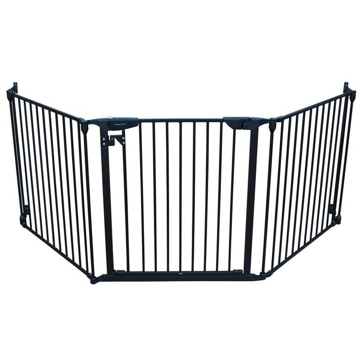 XpandaGate 29.5 in. H x 100 in. W x 2 in. D Expandable Child Safety Gate, Black