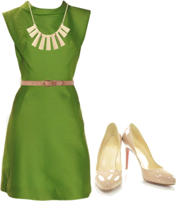 """""""Green"""" by spanwayhits on PolyvoreDresses Obsession"""