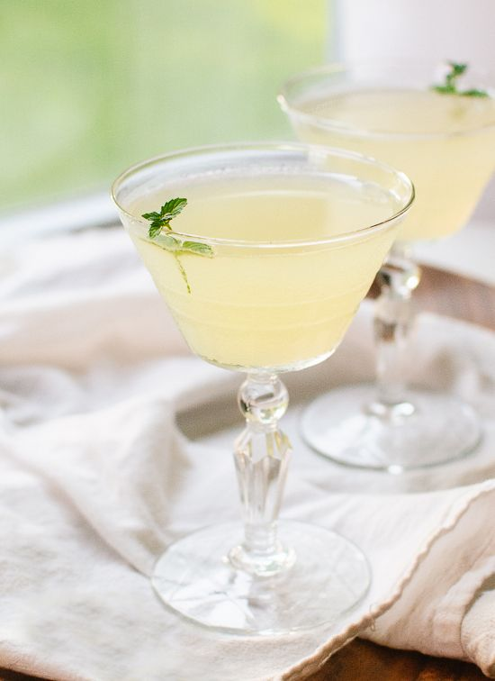 Cold, refreshing cucumber cocktails made with gin, lime and mint - @cookieandkate