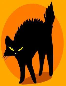halloween cat to draw