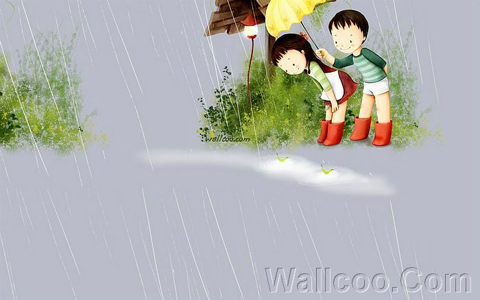 Kim Jong Bok Illustrations(Vol.04) : Sweet Puppy Love   - Puppy Love - Sweet Couples illustration Wallpaper 25