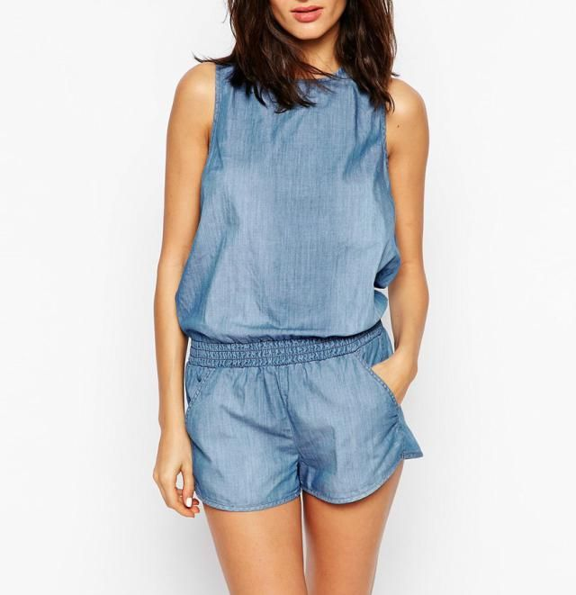 10 Adorable Denim Rompers You Will Want Immediately: Seafolly Beach Romper