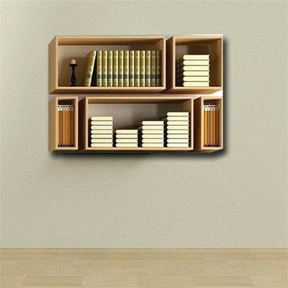Bookshelves That Hang On The Wall Hanging Book Shelves Hanging